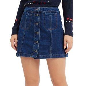 Topshop Denim Skater Skirt